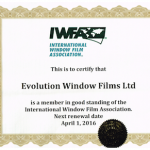 Evolution Window Films IWFA Certification 2016