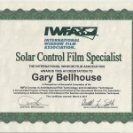Solar Control Film Specialist International Window Film Association Certification 2013